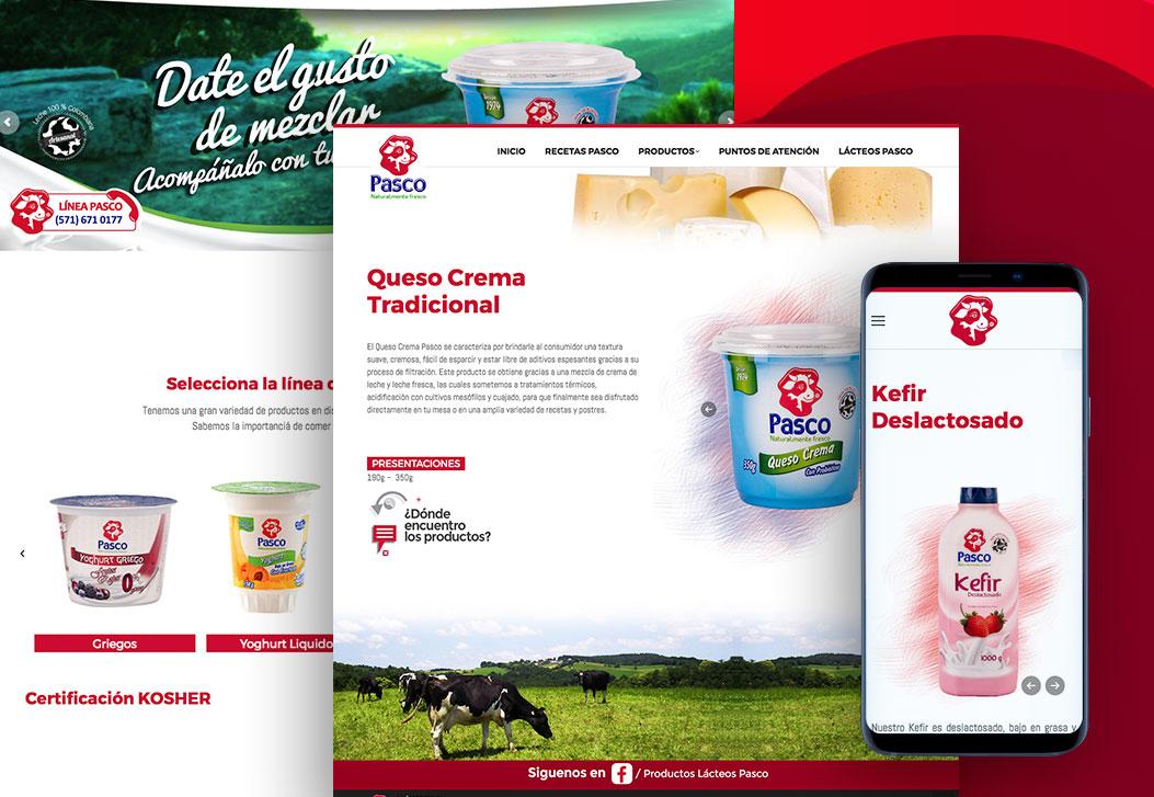 Lácteos Pasco Sitio Web